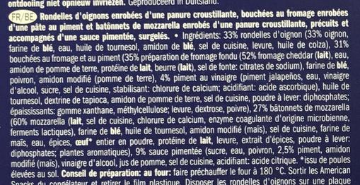 American Style Snack Box - Inhaltsstoffe - fr