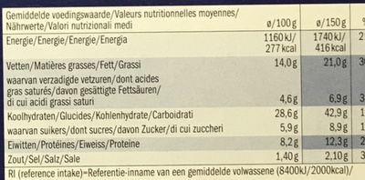 American Style Snack Box - Informations nutritionnelles