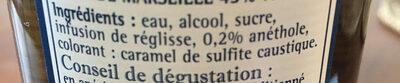 Pastis - Ingrediënten
