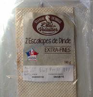 2 Escalopes de Dinde Extra-Fines - Product