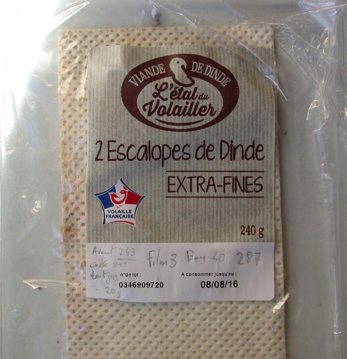 2 escalopes de dinde extra-fines - Produit - fr