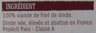 2 escalopes de dinde extra-fines - Ingrédients - fr