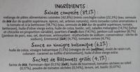 Crudités Jambon Emmental & Oeufs - Ingredients - fr
