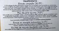 Salade Poulet Parmesan & Œuf - Ingredients