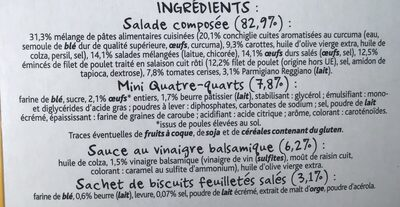 Salade Poulet Parmesan & Œuf - Ingrédients