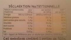 Salade Poulet Parmesan & Œuf - Nutrition facts
