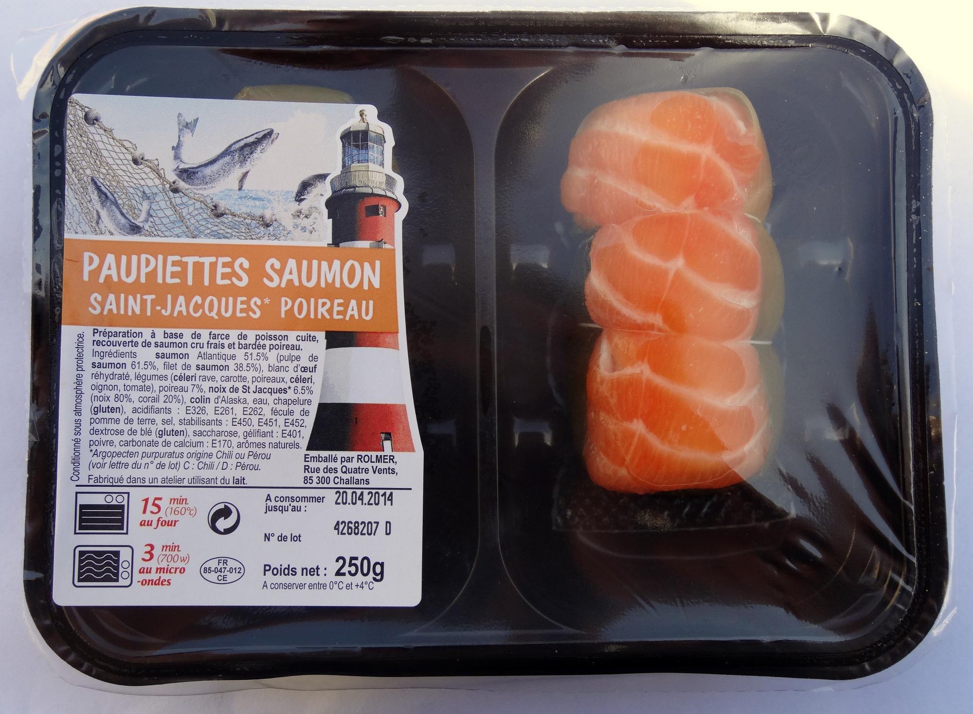 Paupiettes saumon-st jacques-poireau - Product - fr