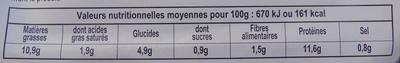 Paupiettes saumon-st jacques-poireau - Informations nutritionnelles - fr