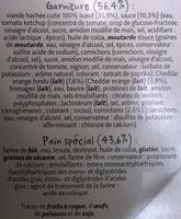 Maxi Cheese Burger - Ingrédients - fr