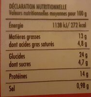 Maxi Cheese Burger - Informations nutritionnelles - fr