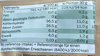 Soft-Aprikosen entsteint und getrocknet - Valori nutrizionali - de