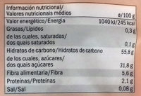 Abricots moelleux - Nutrition facts