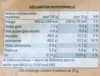 Figues moelleuses - Soft Feigen - Informations nutritionnelles - fr