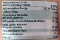 Dattes - Información nutricional