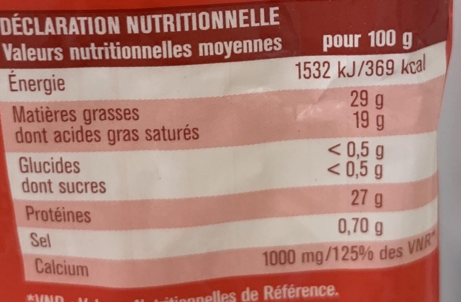 Emmental français râpé x3 - Nutrition facts - fr
