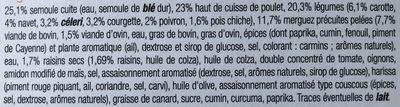 Couscous - Ingredients
