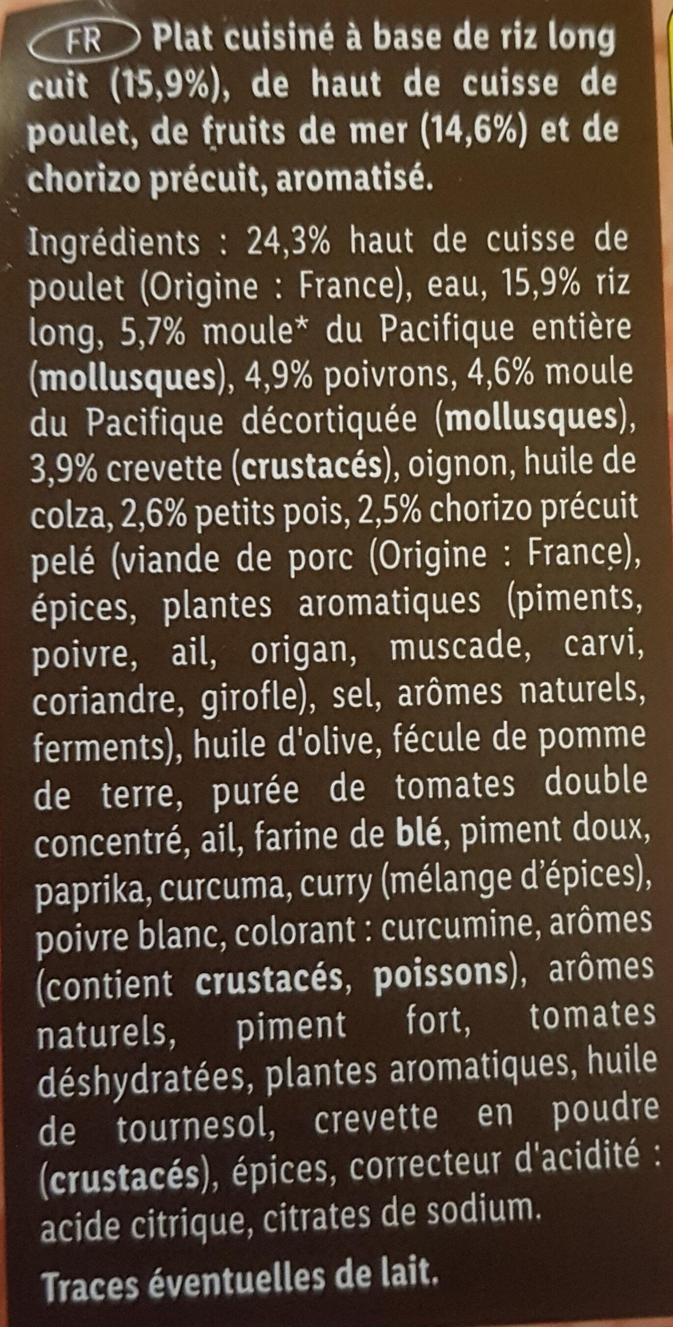 Paëlla - Ingrédients - fr