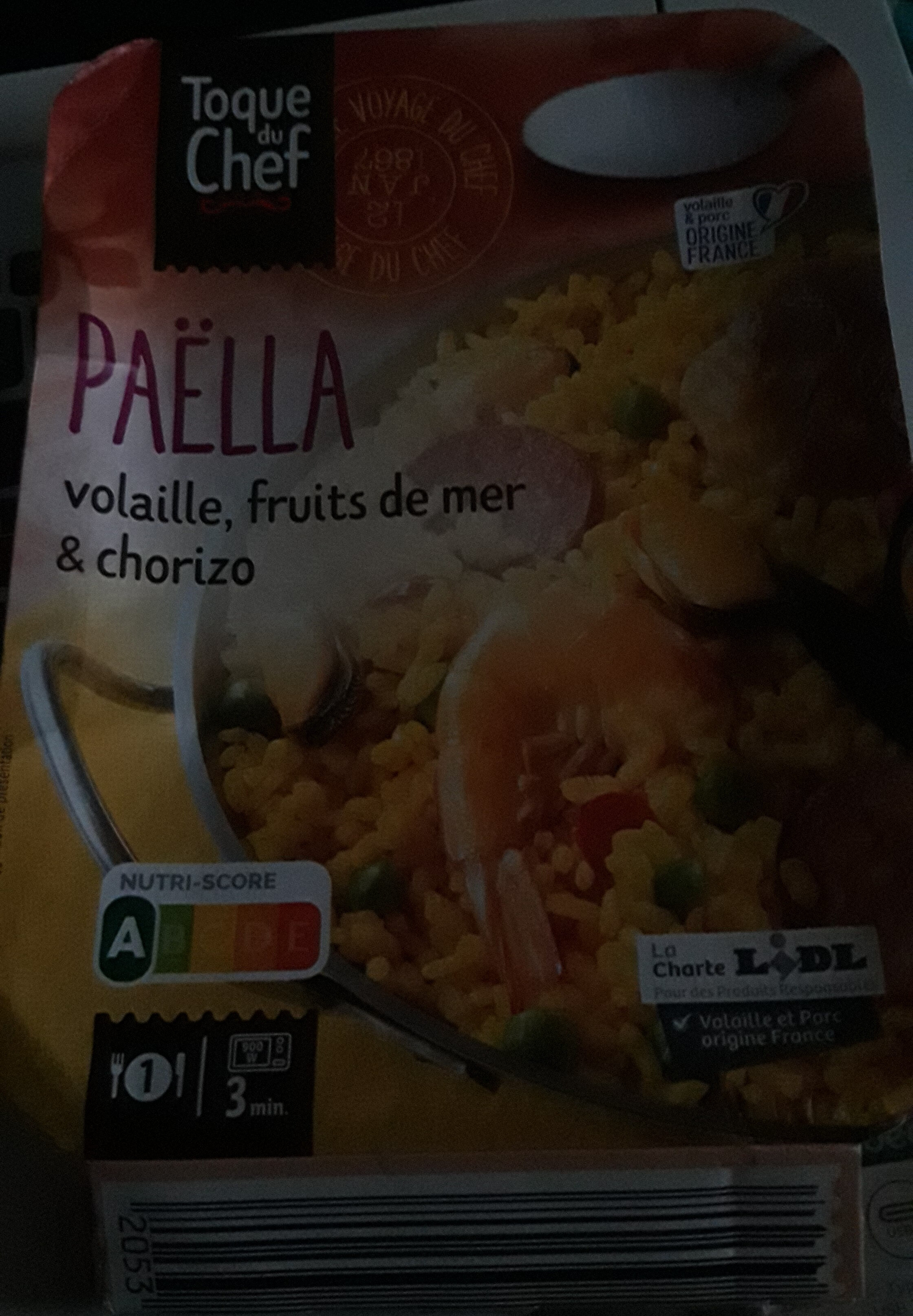 Paëlla - Nutrition facts - fr