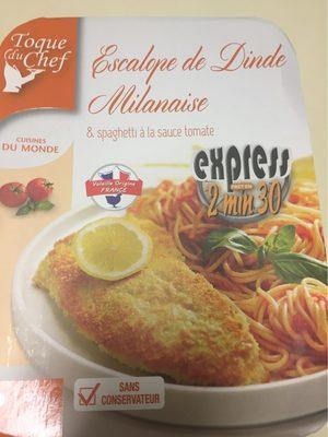 Escalope de Dinde à la Milanaise et spaghetti à la sauce tomate - Produit