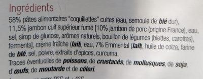 Coquillettes jambon et Emmental - Ingrediënten - fr