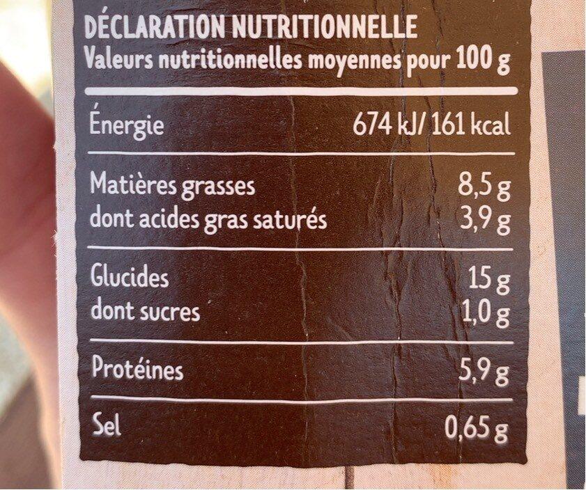 Tagliatelles Carbonara - Informations nutritionnelles - fr