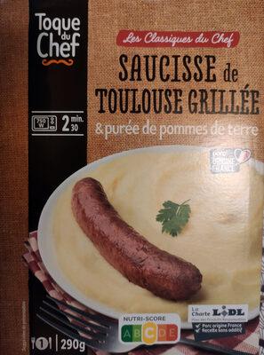 Saucisse de Toulouse grillée & purée de pommes de terre - Product - fr