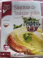 Saucisse de Toulouse grillée & purée à la crème fraîche - Produit - fr