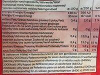 XXL Strawberries, süß - Nutrition facts - fr