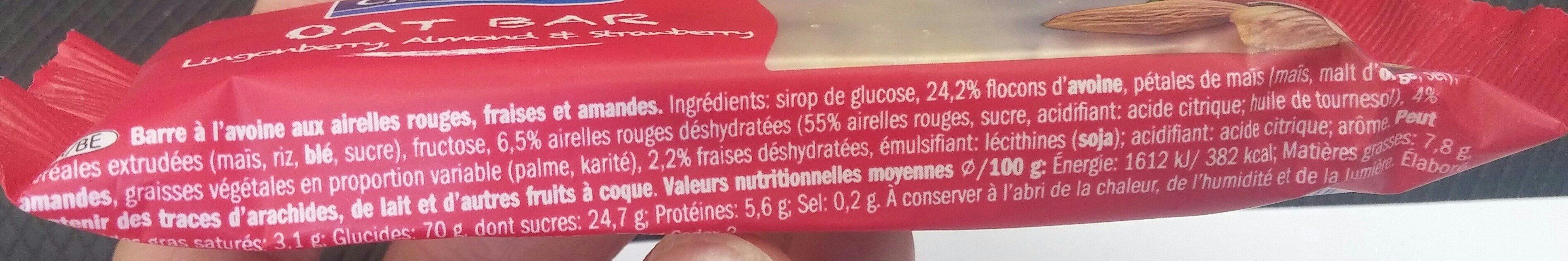 Oat bar - Ingrediënten - fr