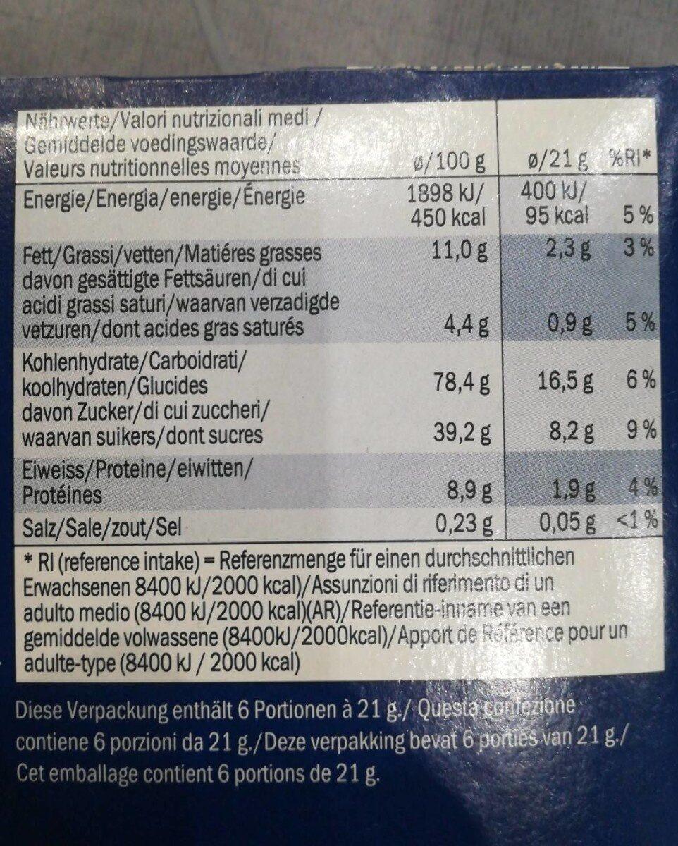 Crispy cubes - Nutrition facts - fr