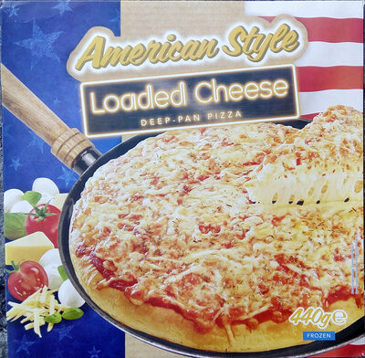American Style Loaded Cheese Deep-Pan Pizza - Produit - sv
