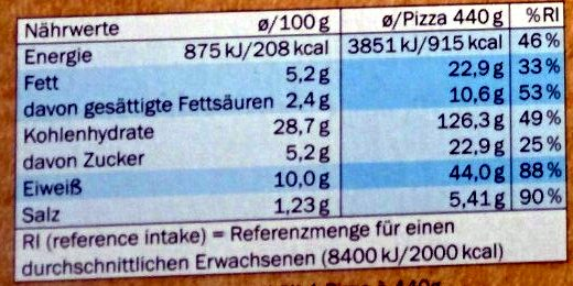 Hawaii nach amerikanischer Art - Nutrition facts