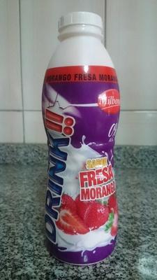 Yogur líquido desnatado edulcorado con fresa - Product