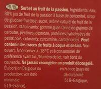 Gelateli fruit de la passion - Ingrédients - fr