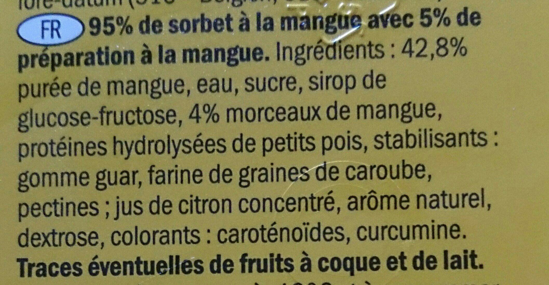 Premium Mango Sorbet - Ingrédients - fr