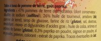 Tuiles à base de pommes de terre goût paprika - Ingrediënten