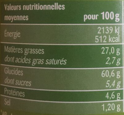 Saveur Sour Cream & Onion - Voedingswaarden - fr