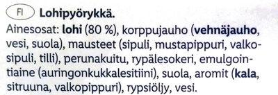Lohipyörykkä - Ingrédients - fi