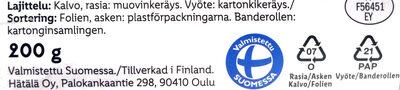 Silakkapihvi - Instruction de recyclage et/ou information d'emballage - fi