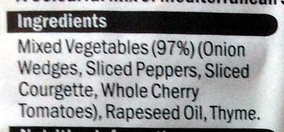 Mediterranean vegetables - Ingrédients