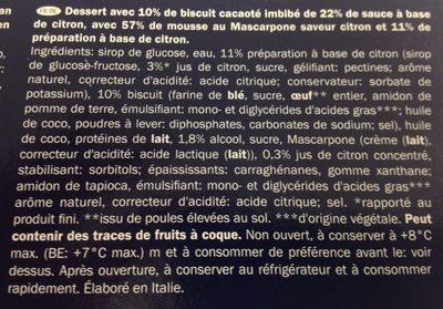 Lemon dessert - Ingrédients