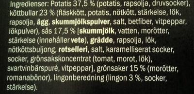 Culinea Köttbullar med sås & potatis - Ingrédients