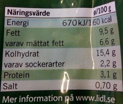 Chef Select Gratäng Klassisk - Informations nutritionnelles - sv