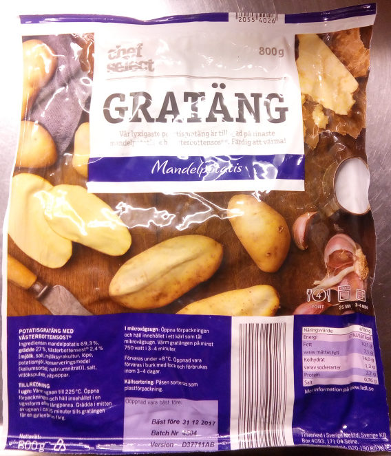 Chef Select Gratäng Mandelpotatis - Product