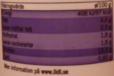 Ängens Cottage Cheese - Nutrition facts