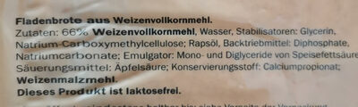 Tortilla Wraps Vollkorn - Składniki - de
