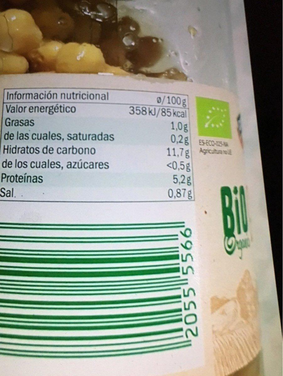Garbanzo bio - Ingrédients