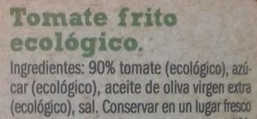 Tomate frito  bio organic - Ingredientes - es