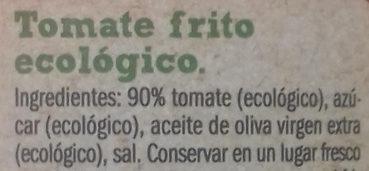 Bio orgànic tomate frito - Ingrédients - es