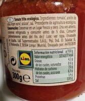 Bio orgànic tomate frito - Informations nutritionnelles - es